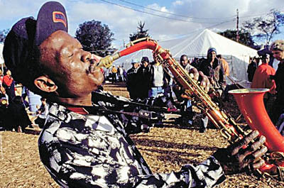 Saxophonist at the Grahamstown Festival